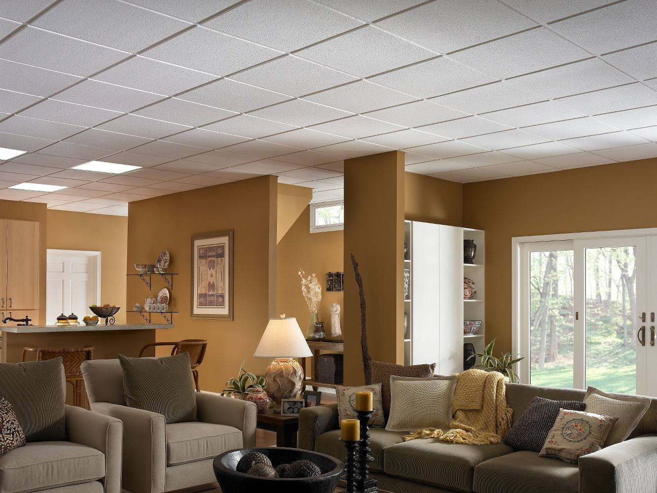 Sand Pebble Homestyle Ceilings Smooth Paintable 2 X 2