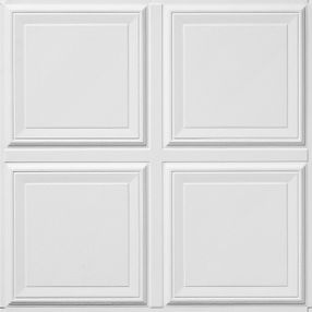 Raised Panel Coffered White 2' x 2' Panel #1201