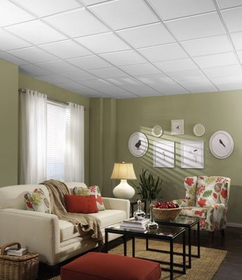 Fluted Homestyle Ceilings Patterned Paintable 2 X 2