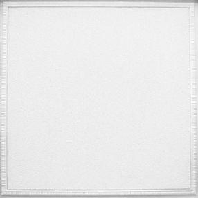 Fluted Con patrones White 2' x 2' Panele #1203