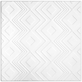 Tango Patterned White 2' x 2' Panel #1206