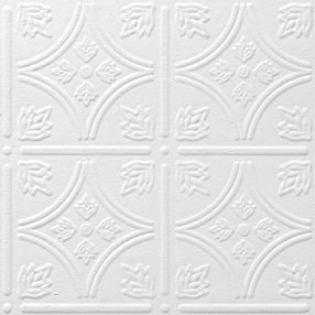 "TinTile Tin/Metal White 12"" x 12"" Tile #1240"