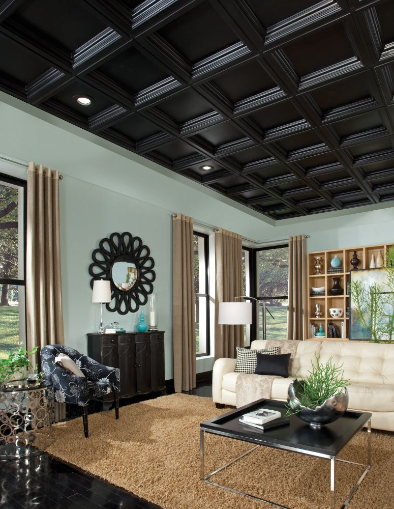 deep coffer black easy elegance coffered black 2 39 x 2. Black Bedroom Furniture Sets. Home Design Ideas