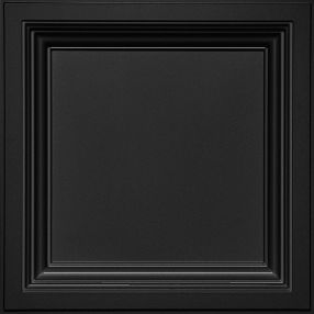 Deep Coffer Black Abovedado Black 2' x 2' Panele #1280BLBXA