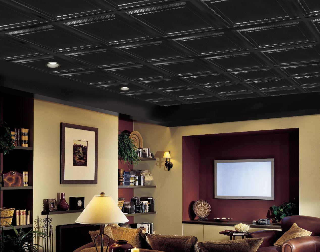 Shallow Coffer Black Easy Elegance Coffered Black 2 39 X 2