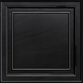 Shallow Coffer Black Coffered Black 2' x 2' Panel #1282BLBXA