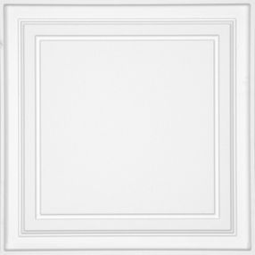Shallow Coffer White Coffered White 2' x 2' Panel #1282BXA
