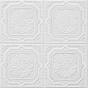 "Wellington Tin/Metal White 12"" x 12"" Tile #46"