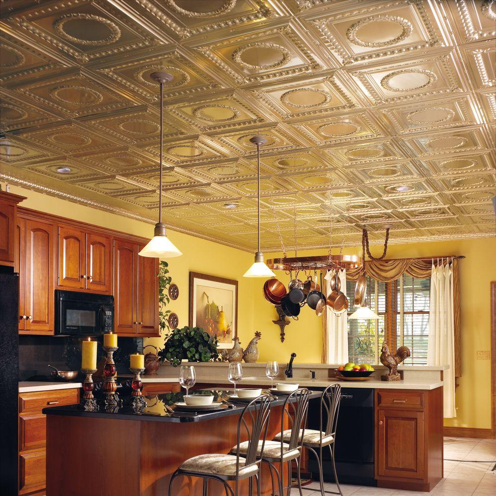 Ceiling Tiles For Kitchen Metallaire Wreath Metallaire Collection Tin Metal Metallic 2 X 4