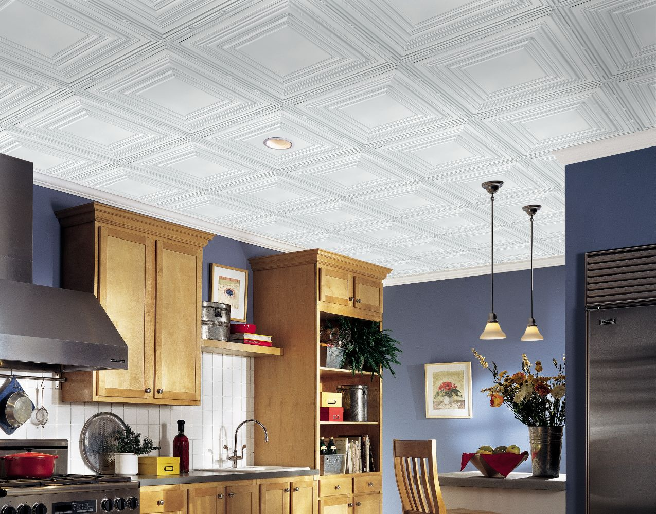 Metal Ceiling Panels : Metallaire large panel collection tin metal