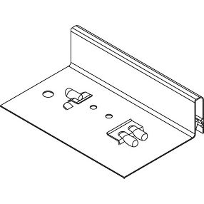"""Unpainted Transition Clip for 1/2"""" Drywall #DW50LTR"""