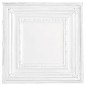 Metallaire Bead Tin/Metal White 2' x 4' Panel #5424504NWH
