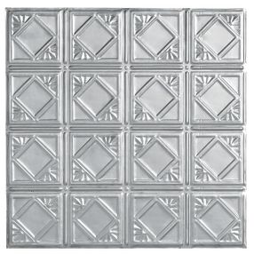 "Metallaire Fans Backsplash Tin/Metal Metallic 18.5"" x 48.5"" Panel #5400207BNA"