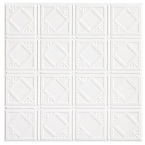 Metallaire Fans Tin/Metal White 2' x 4' Panel #5424207NWH