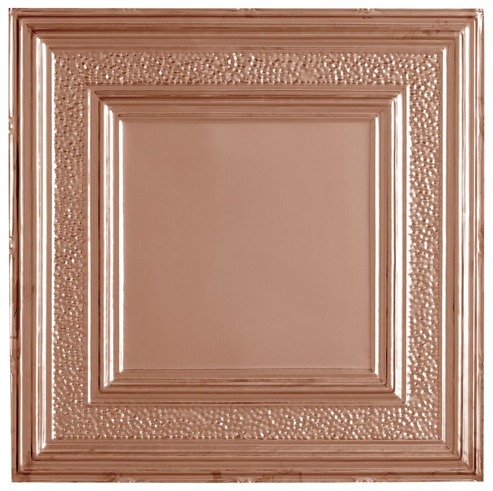 Metallaire Hammered Border Metallaire Collection Tin/Metal Metallic 2u0026#39; x 2u0026#39; Panel 5422509LCP by ...
