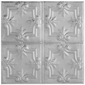 Metallaire Hammered Trefoil Tin/Metal Metallic 2' x 4' Panel #5424321NLS
