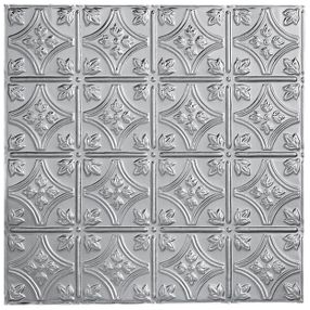 Metallaire Small Floral Circle Tin/Metal Metallic 2' x 2' Panel #5422209LAM