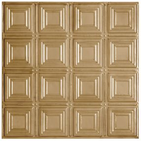 Metallaire Small Panels Tin/Metal Metallic 2' x 4' Panel #5424204NAR