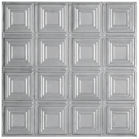 Metallaire Small Panels Tin/Metal Metallic 2' x 4' Panel #5424204NLS