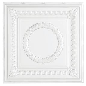 Metallaire Wreath Tin/Metal White 2' x 4' Panel #5424503NWH