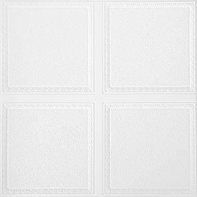 Scalloped Con patrones White 2' x 2' Panele #1202