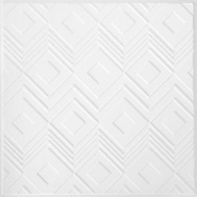 Tango Con patrones White 2' x 2' Panele #1206