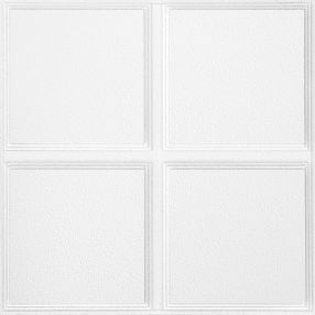 Cascade Patterned White 2' x 2' Panel #1270