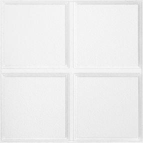 Cascade Con patrones White 2' x 2' Panele #1270