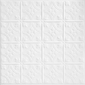 TinCraft Circles Estaño/Metal White 2' x 2' Panele #8008