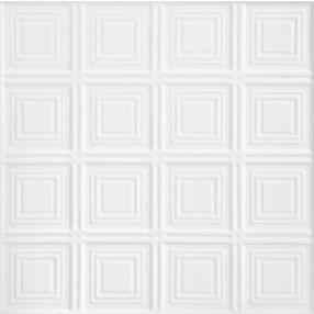 TinCraft Squares Estaño/Metal White 2' x 2' Panele #8009