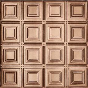 Metallaire Small Panels Tin/Metal Metallic 2' x 4' Panel #5424204NCP