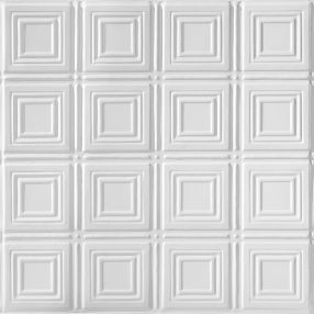 Metallaire Small Panels Tin/Metal White 2' x 4' Panel #5424204NWH
