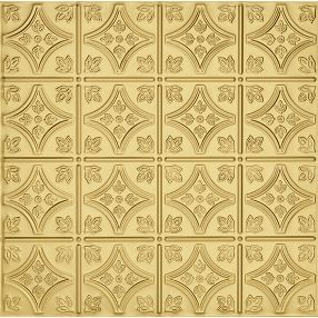Metallaire Small Floral Circle Tin/Metal Metallic 2' x 2' Panel #5422209LAR