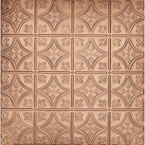 Metallaire Small Floral Circle Tin/Metal Metallic 2' x 4' Panel #5424209NCP