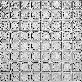"Metallaire Medallion Backsplash Tin/Metal Metallic 18.5"" x 48.5"" Panel #5400234BNA"