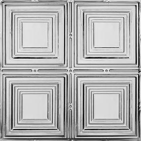 Metallaire Medium Panels Tin/Metal Metallic 2' x 2' Panel #5422320LAM
