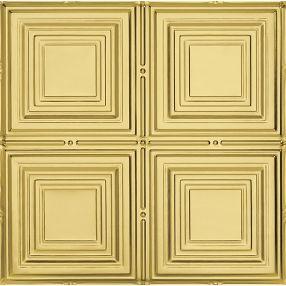 Metallaire Medium Panels Tin/Metal Metallic 2' x 2' Panel #5422320LAR