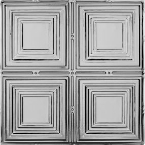 Metallaire Medium Panels Tin/Metal Metallic 2' x 2' Panel #5422320LLS
