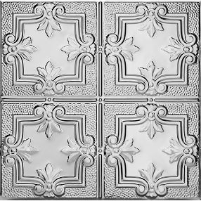 Metallaire Hammered Trefoil Estaño/Metal Metallic 2' x 2' Panele #5422321LAM