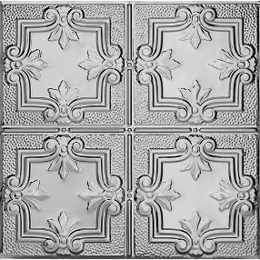 Metallaire Hammered Trefoil Estaño/Metal Metallic 2' x 2' Panele #5422321LLS