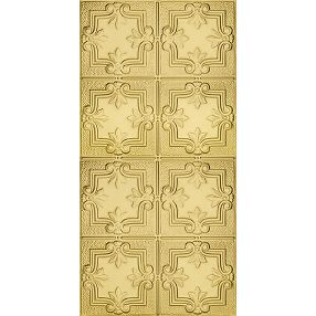 Metallaire Hammered Trefoil Estaño/Metal Metallic 2' x 4' Panele #5424321NAR