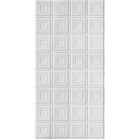 Metallaire Small Panels Estaño/Metal White 2' x 4' Panele #5424204NWH