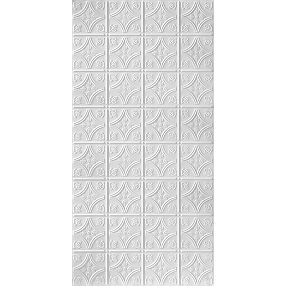 Metallaire Floral Circle pequeño Estaño/Metal Metallic 2' x 4' Panele #5424209NWH