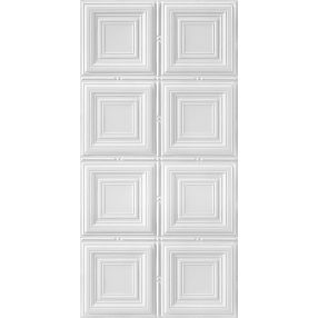 Metallaire Medium Panels Estaño/Metal Metallic 2' x 4' Panele #5424320NWH