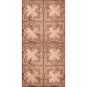 Metallaire Hammered Trefoil Estaño/Metal Metallic 2' x 4' Panele #5424321NCP