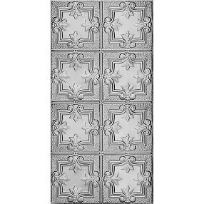 Metallaire Hammered Trefoil Estaño/Metal Metallic 2' x 4' Panele #5424321NLS