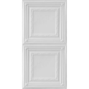 Metallaire Bead Estaño/Metal White 2' x 4' Panele #5424504NWH