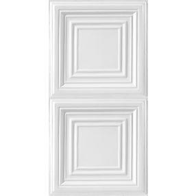Metallaire Large Panel Estaño/Metal White 2' x 4' Panele #5424505NWH