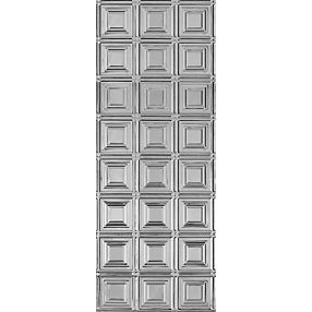 "Metallaire Small Panels Backsplash Estaño/Metal Metallic 18.5"" x 48.5"" Panele #5400204BNA"