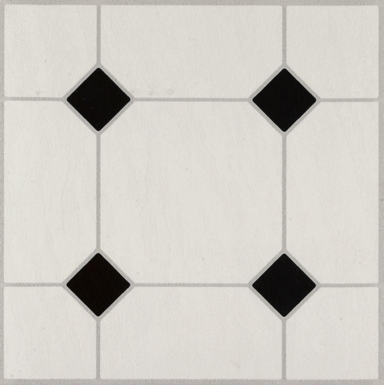 Diamond Jubilee - Black/White Baldosa de vinil 24320